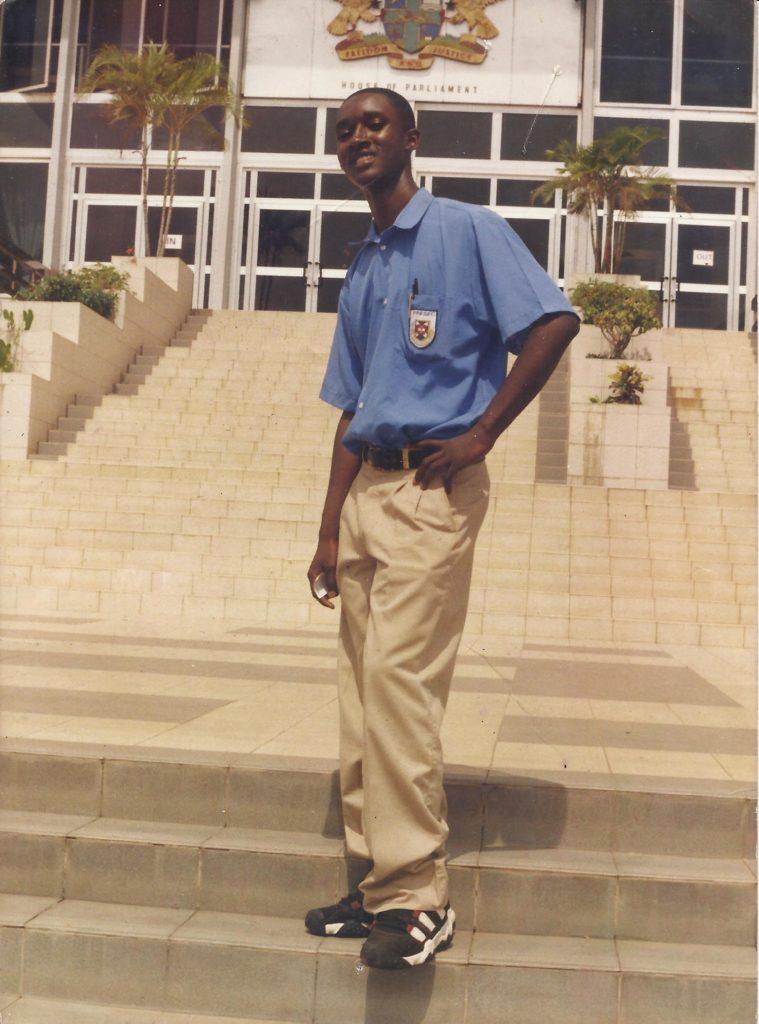 Yaw Boakye-Yiadom - 2002 President of Presec Civic Education club during an excursion by the club