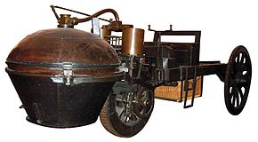 First self-propelled vehicle invented by Cugnot