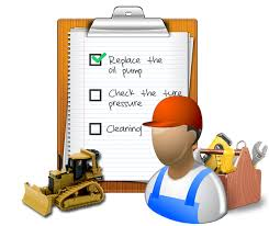 Image of a checklist of work to be done